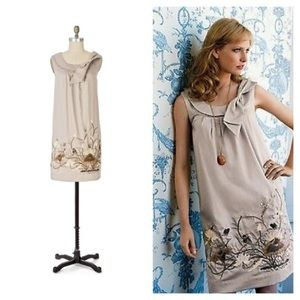 Anthro Floreat 'Finch & Thistle' Embroidered Dress